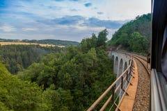 Chemin de fer de rivière de zava de ¡ de SÃ Image libre de droits