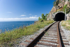 Chemin de fer de Sibérien de transport Photo libre de droits