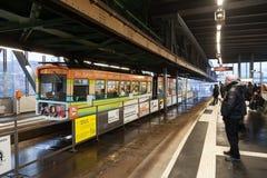 Chemin de fer de suspension de Wuppertal, Allemagne Photos libres de droits