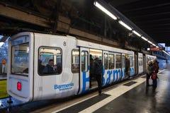 Chemin de fer de suspension de Wuppertal, Allemagne Photos stock