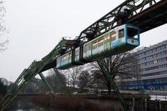 Chemin de fer de suspension de Wuppertal, Allemagne Image libre de droits