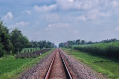 Chemin de fer de train Image stock