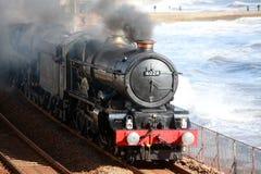 Chemin de fer de vapeur de cru images stock