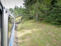 Chemin de fer de Zugspitze, Bavière, Allemagne Images libres de droits