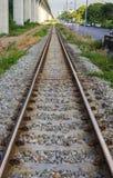 Chemin de fer droit Image libre de droits