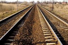 Chemin de fer en Pologne Photographie stock libre de droits
