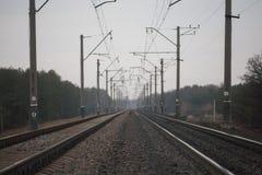 Chemin de fer en Ukraine Image libre de droits