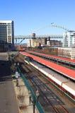 Chemin de fer et trains. Photo libre de droits