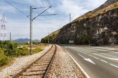 Chemin de fer et voie Photo stock