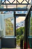 Chemin de fer funiculaire à Bergen, Norvège, bâti s'élevant Floyen photos libres de droits
