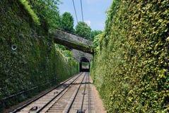 Chemin de fer funiculaire de San Vigilio Photographie stock