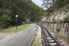 Chemin de fer de mesure étroite en Mokra Gora Serbia photos stock