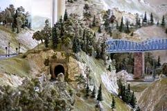 Chemin de fer modèle Photo libre de droits