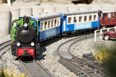 Chemin de fer modèle de train Images libres de droits
