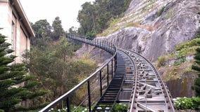Chemin de fer pour les trains s'élevants de voyage photos libres de droits