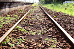 Chemin de fer sur la gare la plus la plus au sud Photos libres de droits
