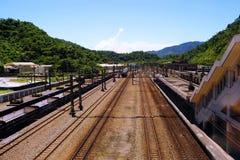 Chemin de fer sur la montagne Image stock