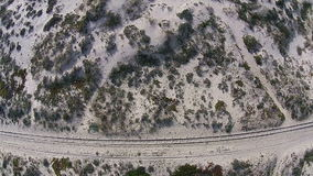 Chemin de fer sur la plage banque de vidéos