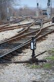 Chemin de fer sur la station Photographie stock