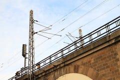 Chemin de fer sur le viadukt de Negreliho Images stock