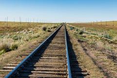 Chemin de fer de Transmongol, chemin de fer à voie unique photo libre de droits
