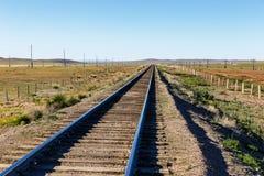 Chemin de fer de Transmongol, chemin de fer à voie unique images libres de droits