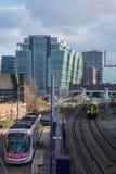 Chemin de fer urbain Photos libres de droits