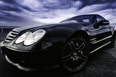 Chemin de frottement, benz de Mercedes Photo libre de droits