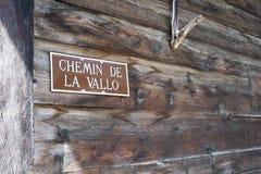 Chemin de la Vallo 免版税库存图片
