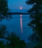 Chemin de lune Photos stock