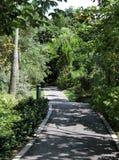 Chemin de marche aux jardins par la baie Photo stock