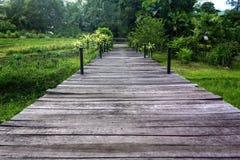Chemin de marche en bois Photos libres de droits
