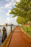 Chemin de marche le long de mur de mer Photo stock