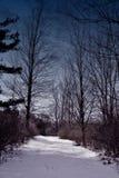 Chemin de minuit Image libre de droits