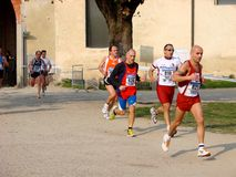 Chemin de Moitié-Marathon dans Vigevano, Italie image stock