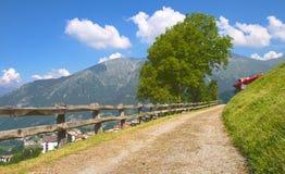 Chemin de montagne, Alpes Photo stock
