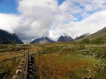 Chemin de montagne de marais Photographie stock