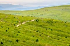 Chemin de montagne vers le haut au ciel Photo libre de droits