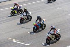 Chemin de moto Photo libre de droits