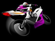 Chemin de moto Photos libres de droits