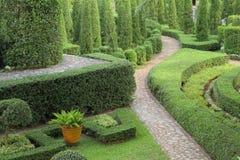 Chemin de nature à travers dans le jardin Photo stock
