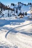 Chemin de neige images libres de droits