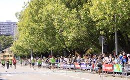 Chemin de passage de marathon Images stock