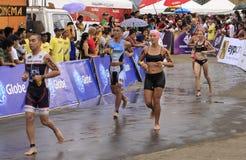 Chemin de passage de marathon d'Ironman Philippines Photographie stock libre de droits