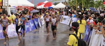 Chemin de passage de marathon de triathlon d'Ironman Image libre de droits