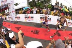 Chemin de passage de marathon de Triathlon d'Ironman Photo stock