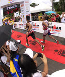 Chemin de passage de marathon de Triathlon d'Ironman Photos libres de droits