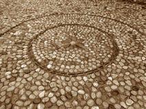 Chemin de pavé rond de modèle de cercle de vieille ville de Mostar Photographie stock libre de droits