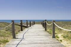 Chemin de plage Photos libres de droits