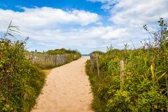 Chemin de plage de la Normandie Image stock